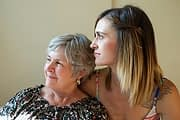 old and young woman