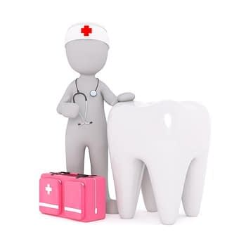 Graphic of dentist with tooth cosmetic dentist 2ra